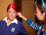 Spanked in school uniform on graduation day - Alison�s week of punishment