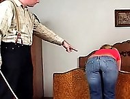 Blond high school girl faces corporal punishment