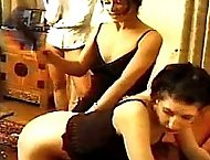 Troubled pair get their sexy asses spanked by the cruel dominatrix