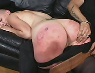 Two Luscious babes get their round asses spanked bright red