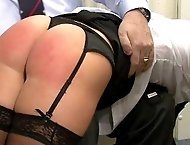 Naughty Secretary Spanked