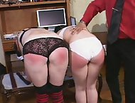 Sexy young girls get their gorgeous asses and thighs caned and bruised