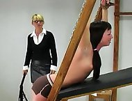 Sylvia is caught wearing too much makeup and called into the headmistress office to receive her punishment.  The headmistress orders Sylvia to remove